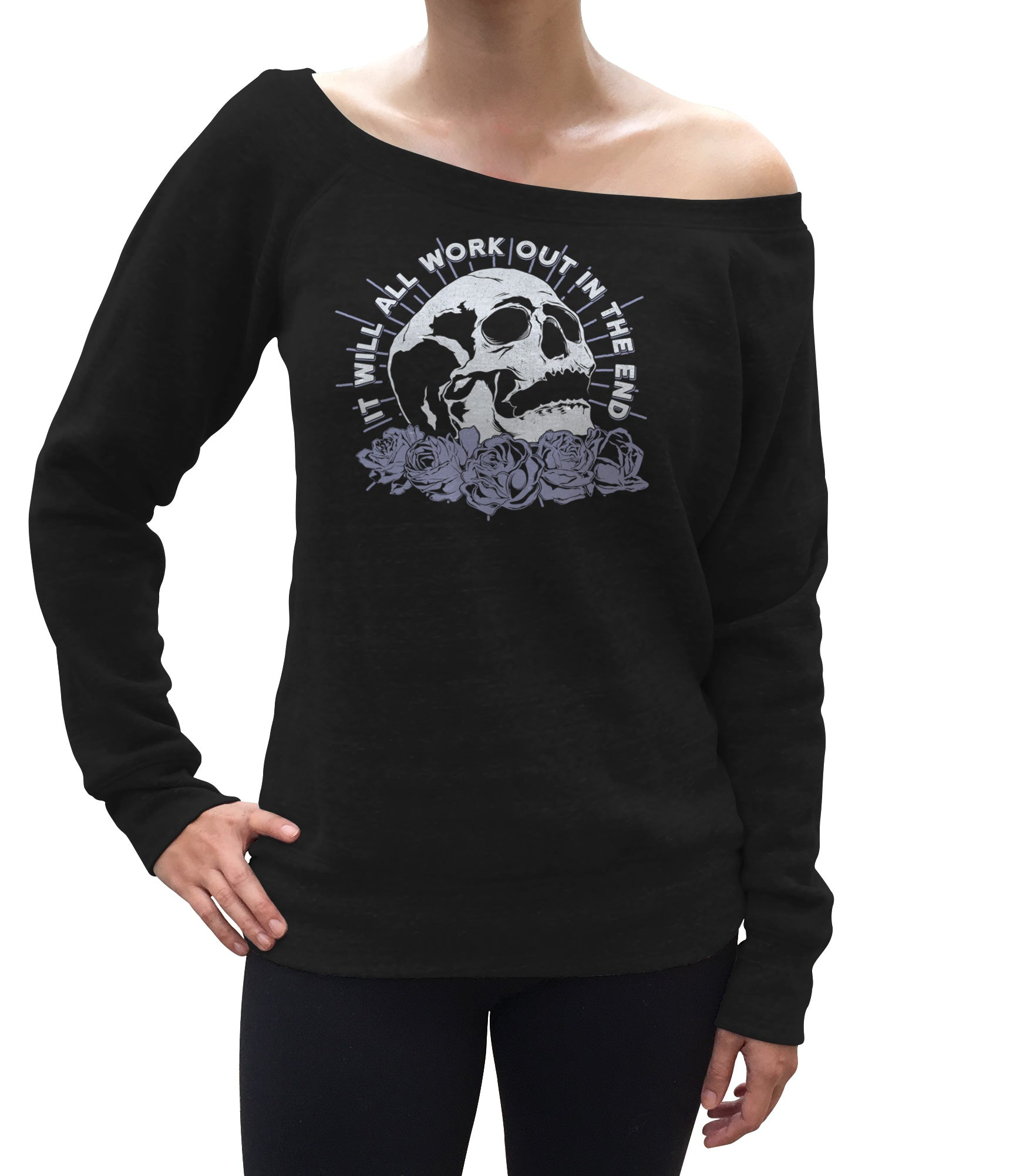 Women's It Will All Work Out In The End Scoop Neck Fleece