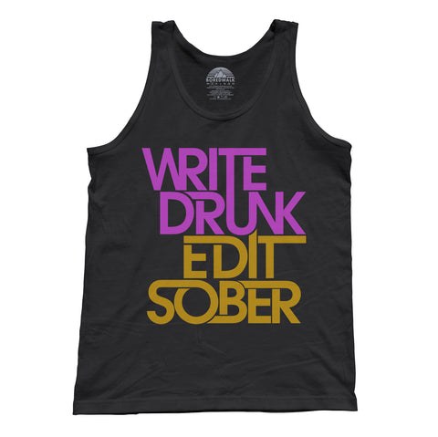 Unisex Write Drunk Edit Sober Tank Top