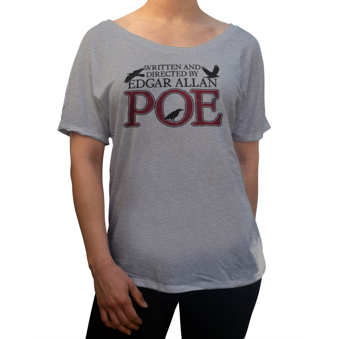 Women's Written and Directed by Edgar Allan Poe Scoop Neck T-Shirt
