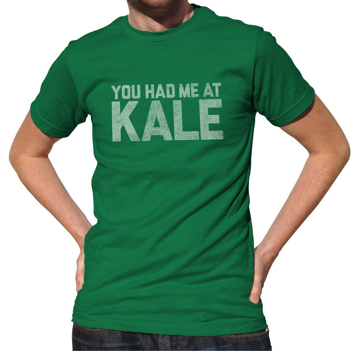 Men's You Had Me at Kale T-Shirt Foodie T-Shirt