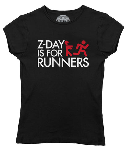 Women's Z Day Is For Runners T-Shirt - Zombies Runner Shirt