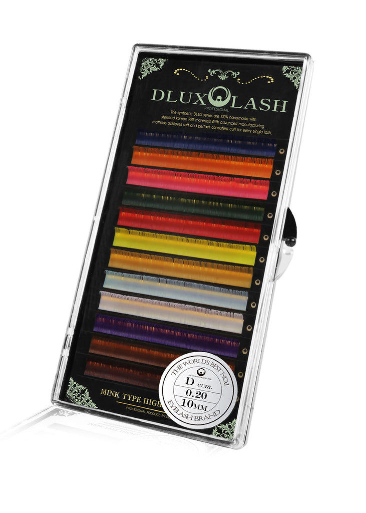Dlux Colour Mink Lashes (12 Colors in a Tray) - Lash for Less