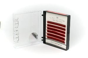 * * CLEARANCE * * Dlux Colour Mink Lashes  - HOT RED