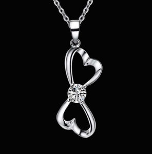 Necklace: Infinity Heart Pendant Necklace