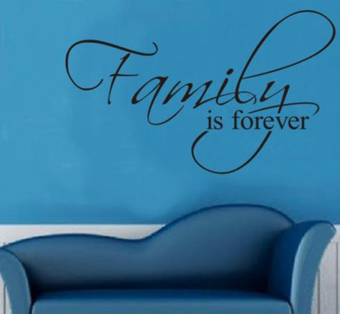 "Wall Decal: ""Family is Forever"" Wall or Window Decal"