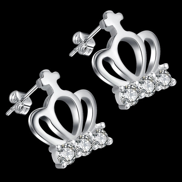 Earrings: Princess Crown Cinderella Studs