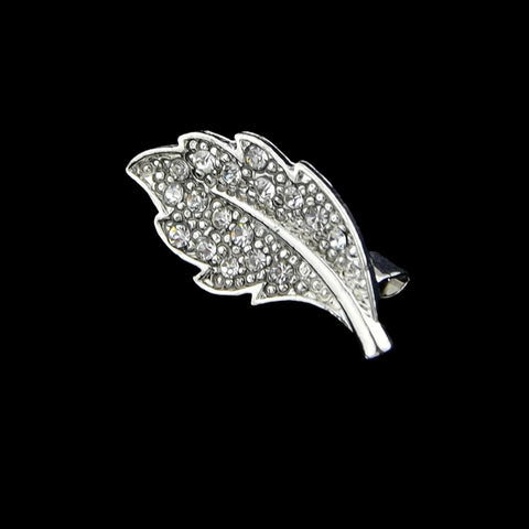 Brooch: Sparkly Leaf Brooch