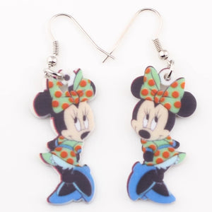 Earrings: Minnie Mouse Earrings - Multicolour