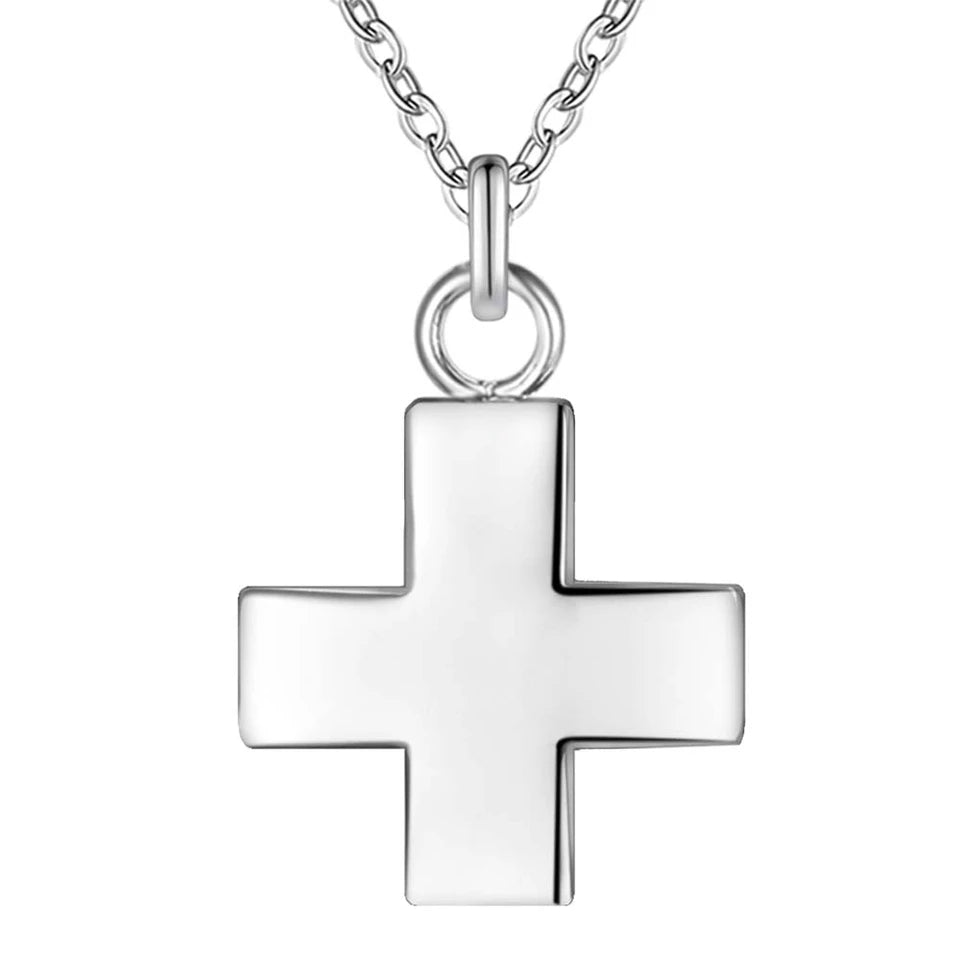 Necklace: Small cross necklace