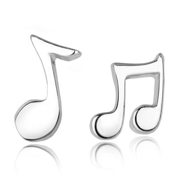 "Earrings: Music Note ""musical"" Stud Earrings"