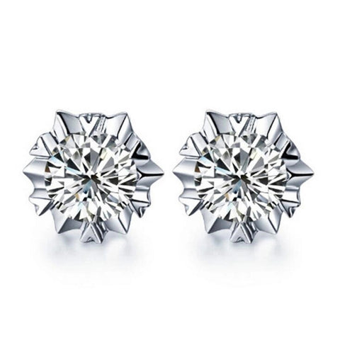 "Earrings: ""Solitaire Splash"" Stud Earrings"