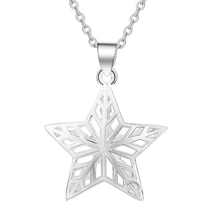 Necklace: 3D Star Pendant Necklace