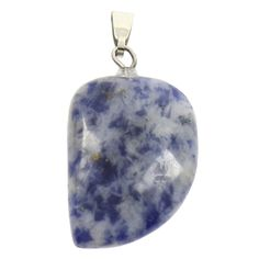 Necklace: Natural Stone Sodalite Pendant Necklace