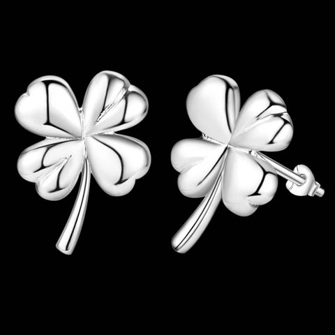 Earrings: 4-leaf clover stud earrings