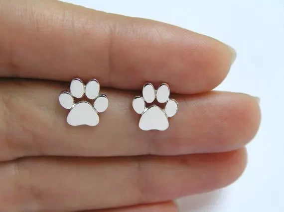 Earrings: Paw Print Earrings