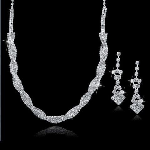 "Bridal Set ""amelia"" - Necklace and earrings"