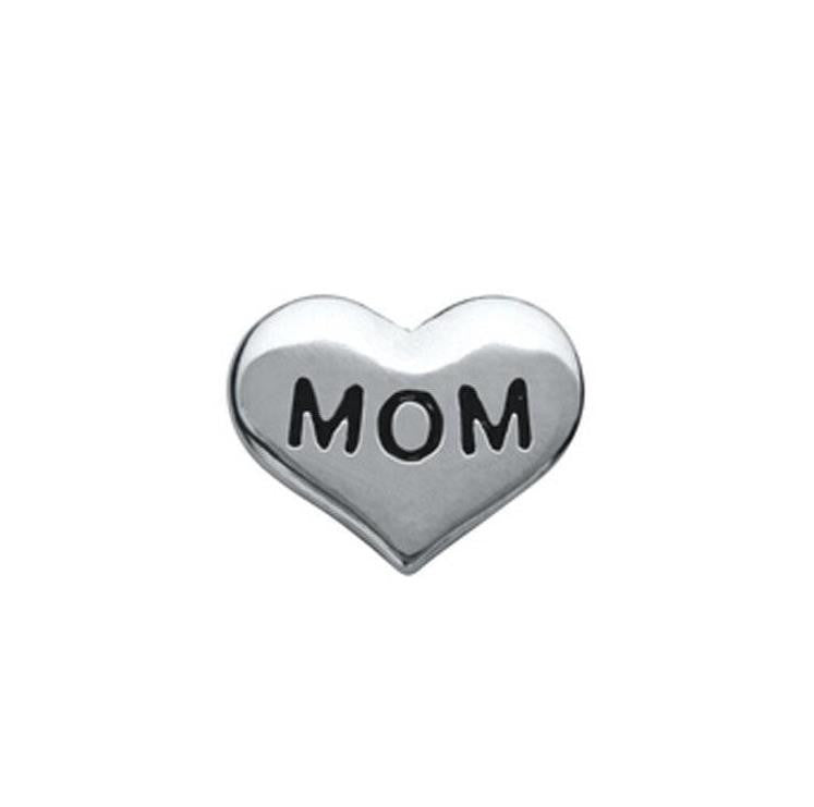 "Floating Charm: Family Collection - ""Mom"" Heart Charm"