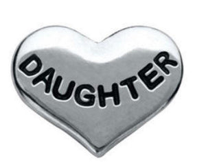"Floating Charm: Family Collection - ""Daughter"" Heart"