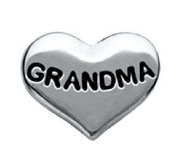 "Floating Charm: Family Collection -""Grandma"" Heart Charm"