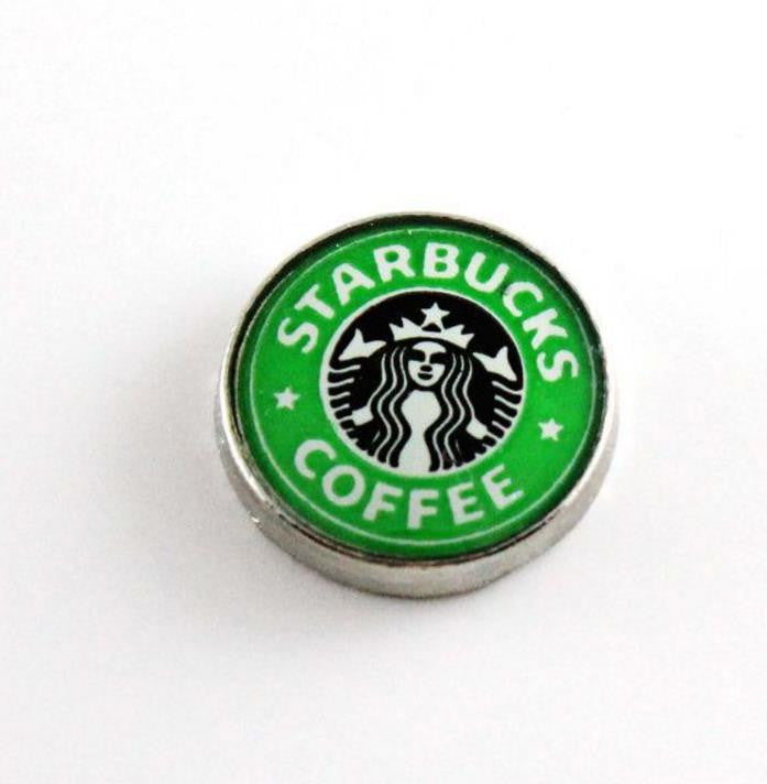 Floating Charm: Food & Beverage Collection - Coffee Starbucks Logo Circle
