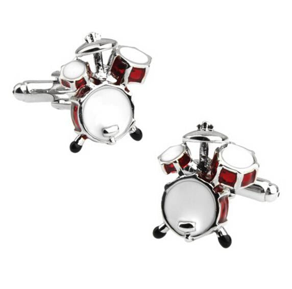 Cufflinks: Music Cufflinks - Drum Set