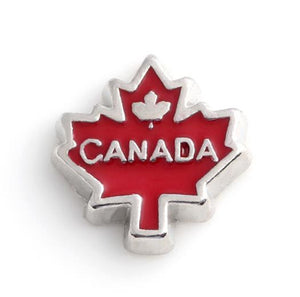 Floating Charm: Travel Collection - Canada Maple Leaf