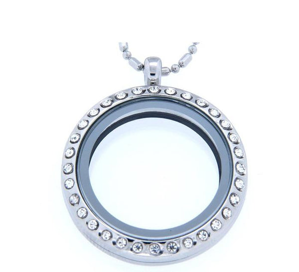 Floating Charm Jewellery: Pendant - Round with Gemstones