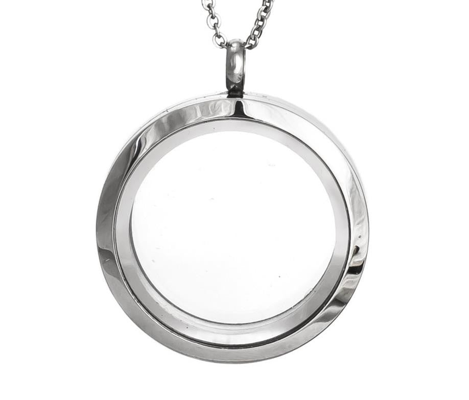 Floating Charm Jewellery: Pendant & Chain - Round
