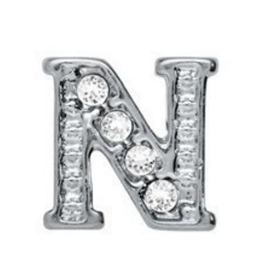 Floating Charm: ABC123 Collection - Alphabet Rhinestone Charms