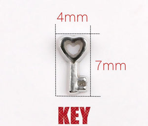 Floating Charm: Forever Love Collection - Heart Shaped Key Charm