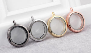 Floating Charm Jewellery: Pendant - Round - Multiple Colours Available
