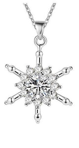 "Necklace: ""Elegant Snowflake"" Pendant Necklace"