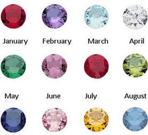 Floating Charm: Birthstone Collection - Round Birthstone Charm - 4mm