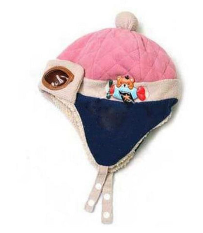Kids: Kids Aviator Toque w/ Attached faux-Goggles