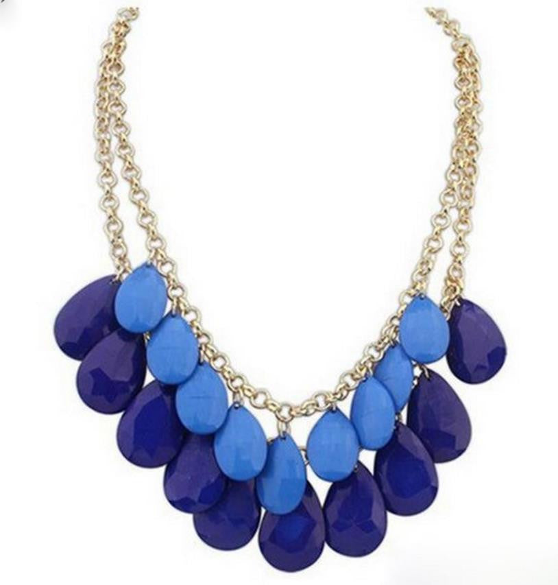 Statement Necklace: Luscious Layered Teardrop Boho Necklace