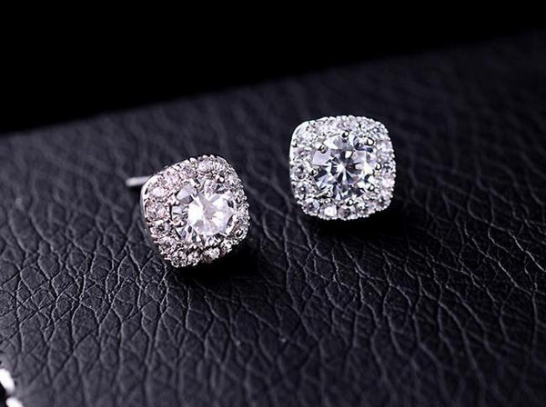 Earrings: Stunning Sparkle Halo Stud Earrings
