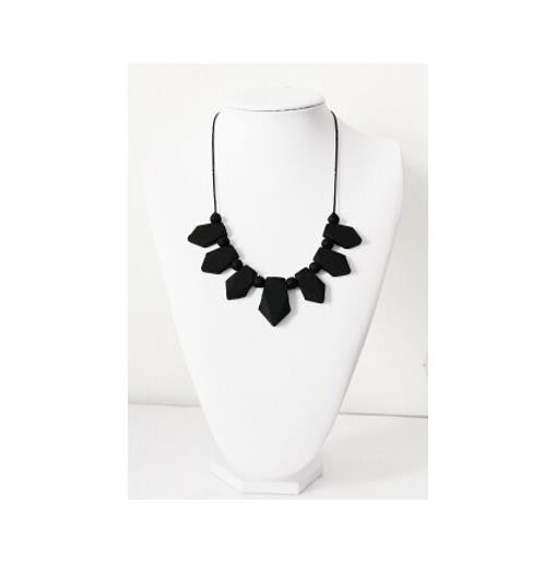 "Kids:  Beaded ""Chew""-lery Statement Necklace (Multiple Colours Available)"