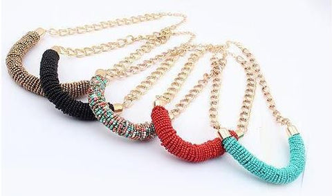 Statement Necklace: Boho Statement Necklace (Multiple Colours Available)