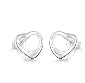 "Earrings: ""Ashlea"" Stud Open-Heart Earrings"