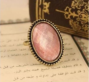 Ring - BREAST CANCER AWARENESS - Antiqued Gold Boho Ring