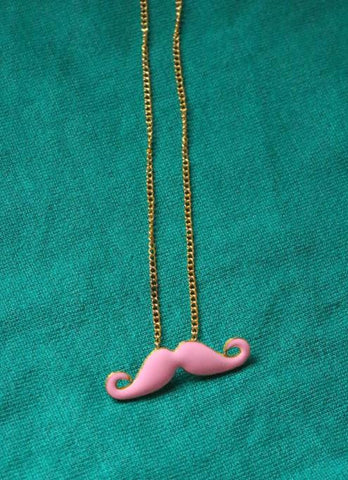 Necklaces: Mustache Pendant Long Necklace