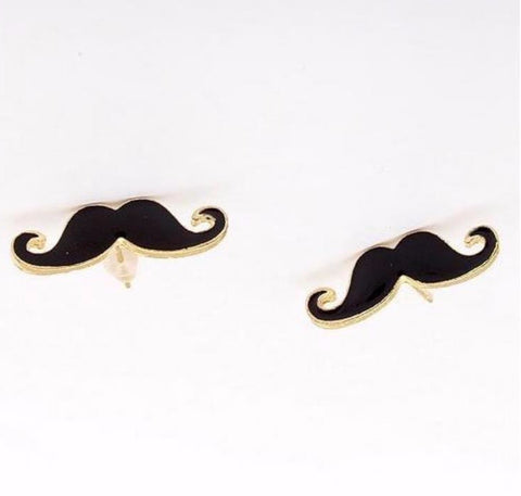Earrings: Mustache Stud Earrings