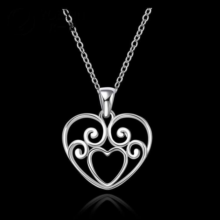Necklace: Celtic Heart Open Cut-Out Style Pendant Necklace