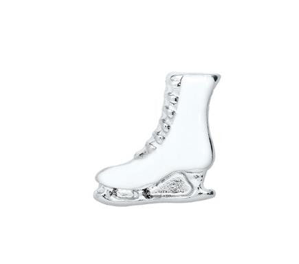 Floating Charm: Sports Collection - Figure Skating Ice Skate Charm