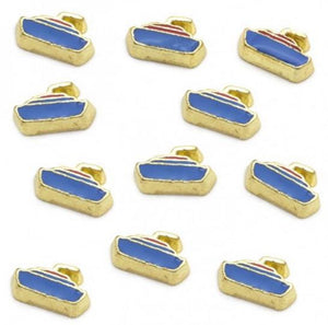 Floating Charm: Sports Collection - Gold enamel floating boat charm