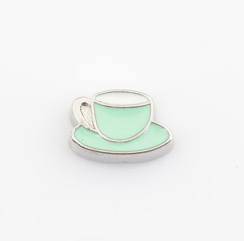 Floating Charm: Food & Beverage Collection - Coffee Cup with Saucer Charm