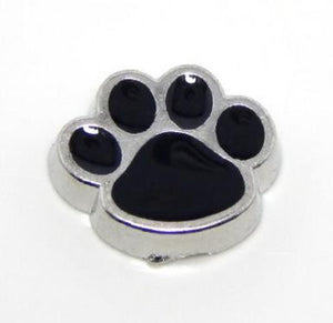 Floating Charm: Animal Collection - Puppy Paw Print