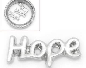 "Floating Charm: ""Hope"" Script Word Charm"