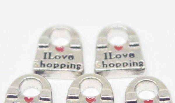 Floating Charm: Occupation Collection - I <3 Shopping Purse Charm
