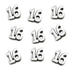 "Floating Charm: Birthday Collection - Age Charm ""Sweet 16"" Charm"
